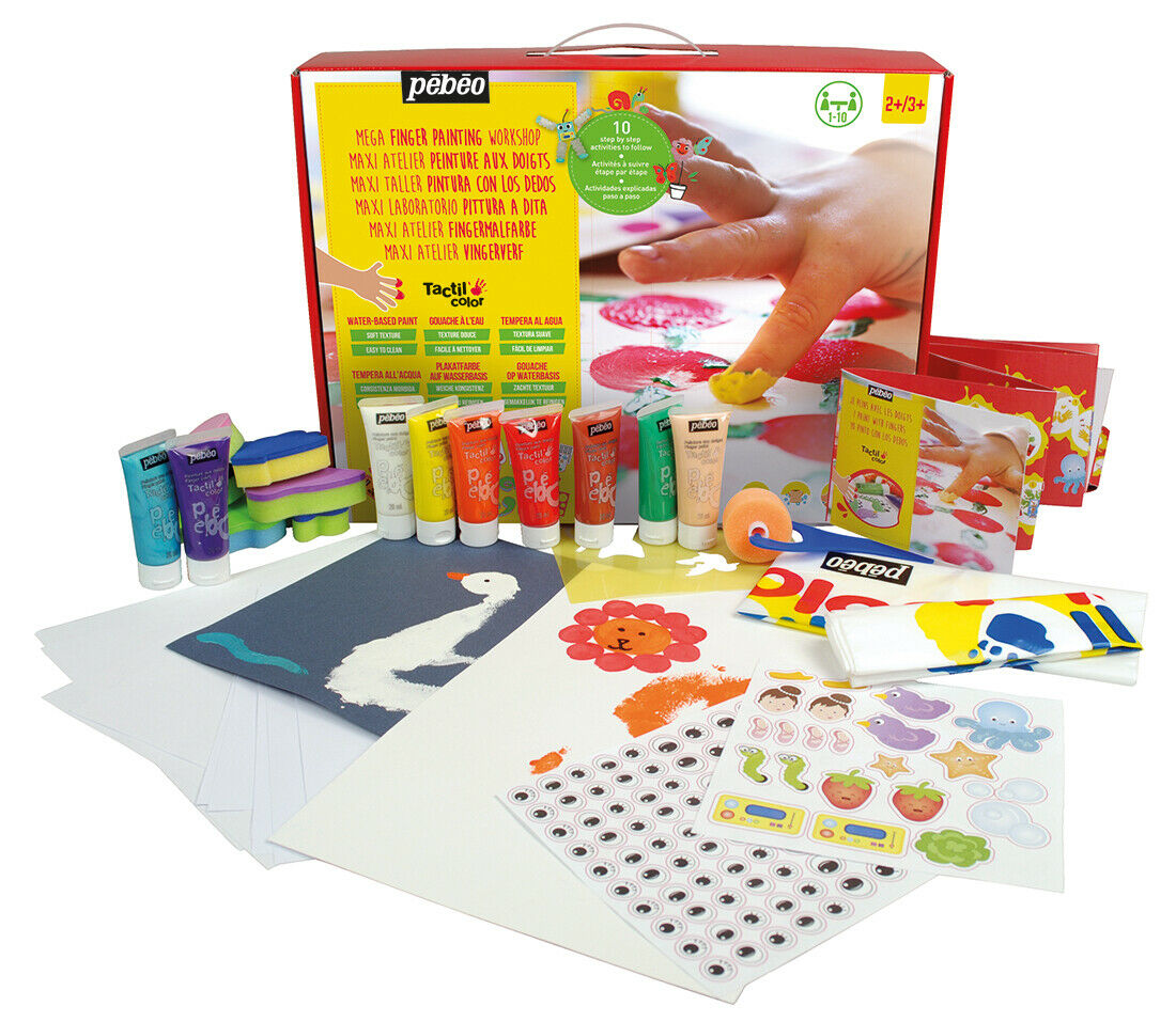 Pebeo Tactilcolor 10 Creative Activities Studio Water Based  - Me Books Store