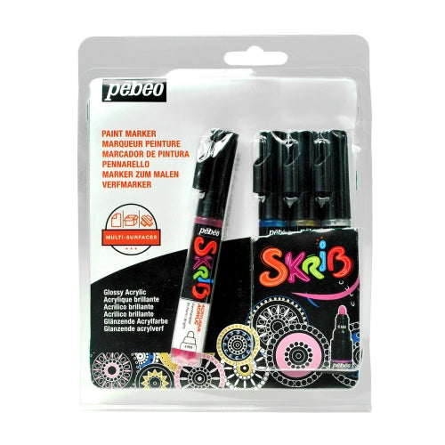 Pebeo Skrib Acrylic Markers Set of 4-Pearl - Me Books Store