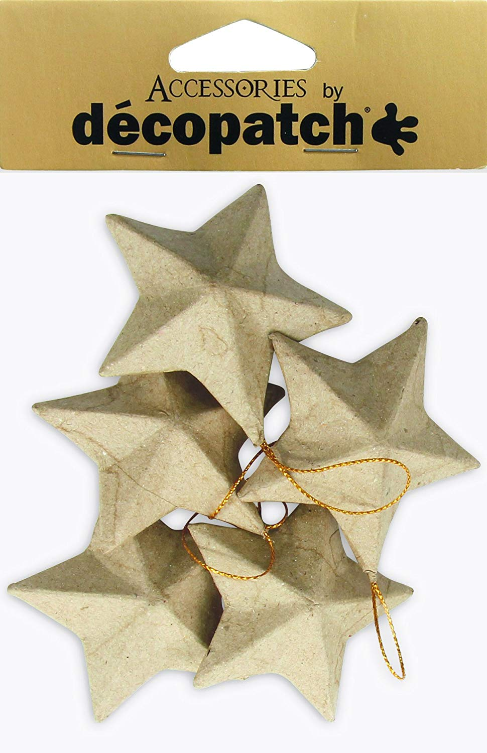Decopatch Objects:Christmas-Set of 5 Stars - Me Books Asia Store