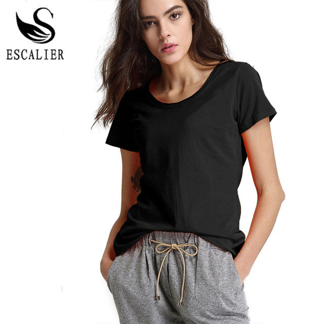 ... Short Sleeve Tees Female All-Match Basic Casual Tops. 2017 Women's  Fashions - New Summer T-Shirts for Women O-Neck - Cotton