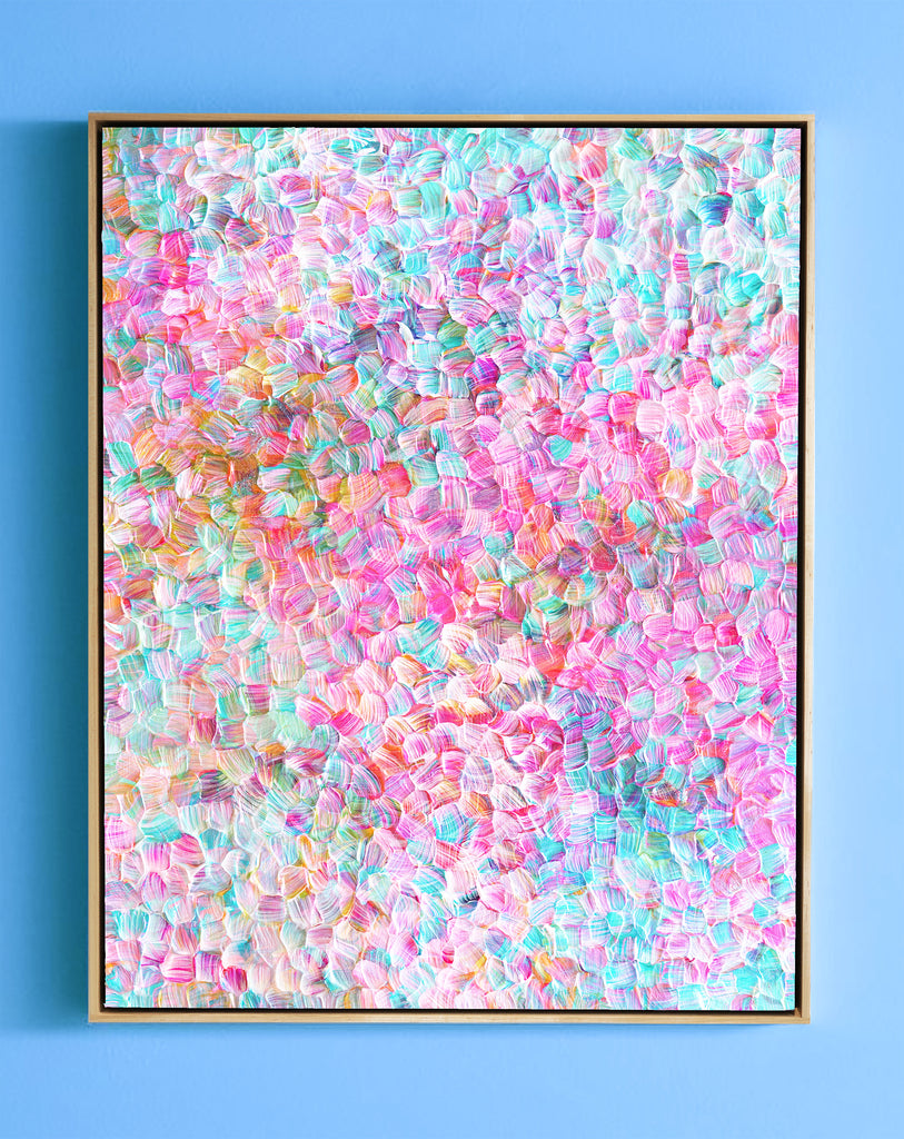 "Cotton Candy Clouds -61.25"" X 46.25"" X 2.5"" Framed"