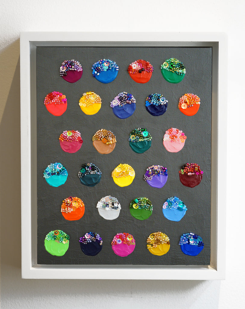 "Identity Dots No. 1 -11.5"" X 9.5"" X 2"" Framed"