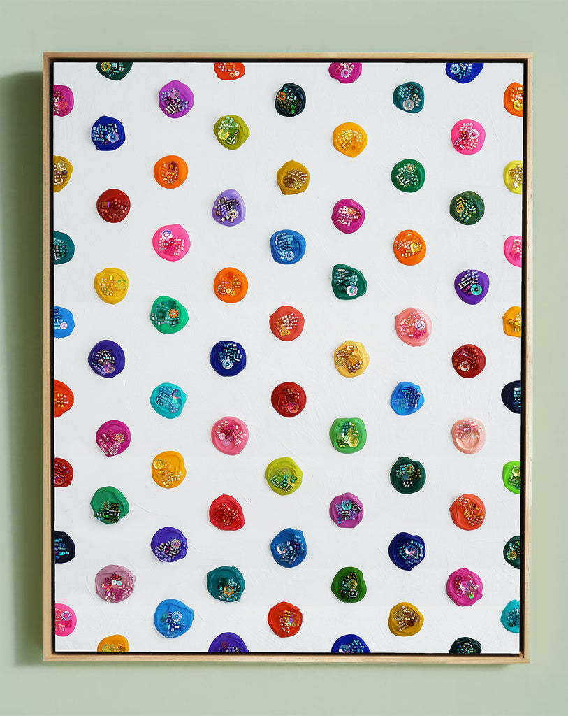 "Identity Dots No. 4 -15.25"" X 12.25"" X 2.5"" Framed"