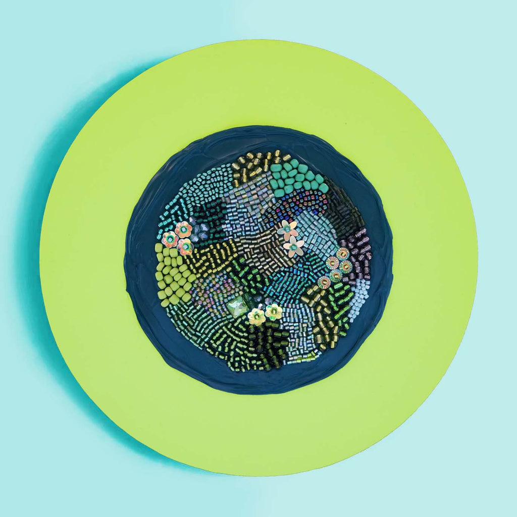 "Identity Dots No. 15 -8"" Diameter and 7/8"" Deep"