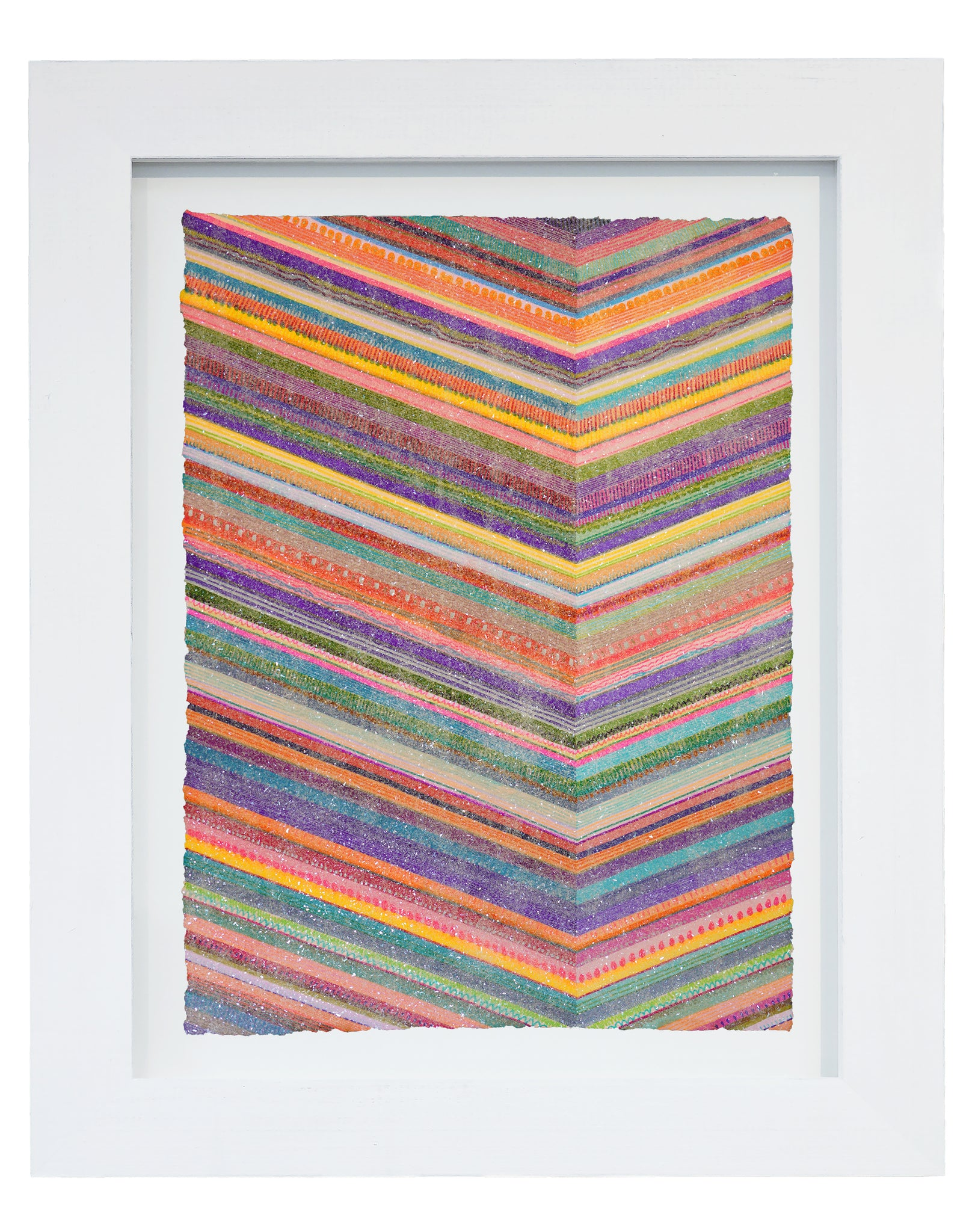 "Lineation No. 17 -36"" X 28"" Framed"