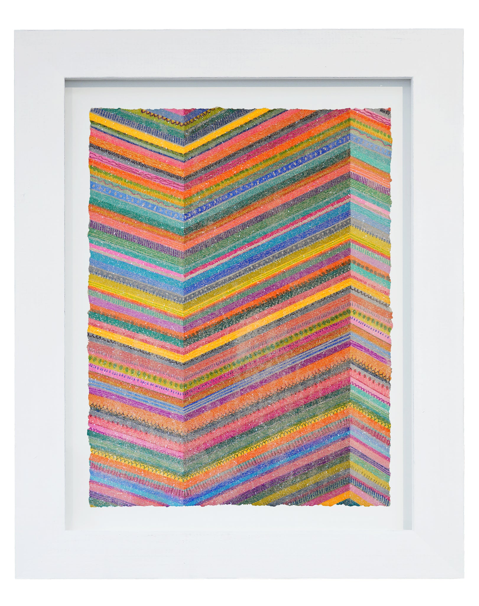 "Lineation No. 19 -36"" X 28"" Framed"