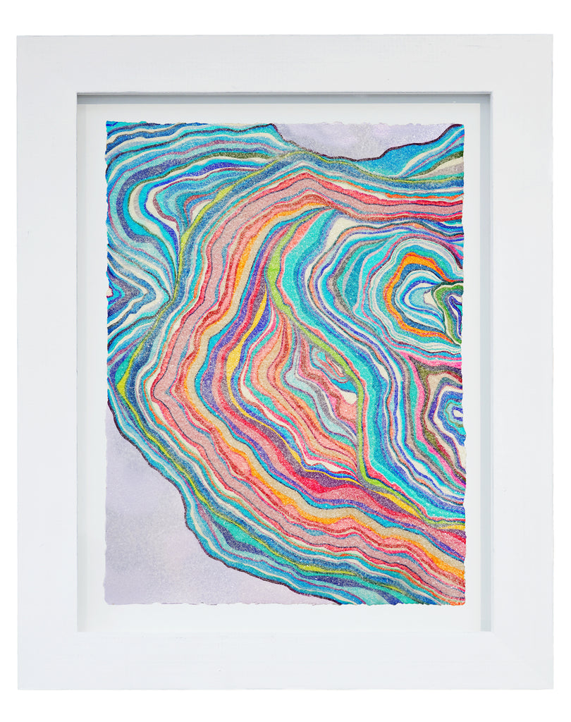 "Lineation No. 39 -36"" X 28"" Framed"