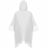 20x Bulk Pack Adult Clear Waterproof Hooded Emergency Rain Poncho Mac Coat