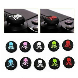 2x Skull Bones Silicone Analog Thumb Stick Grip Cover Caps for Xbox Series X / PS5