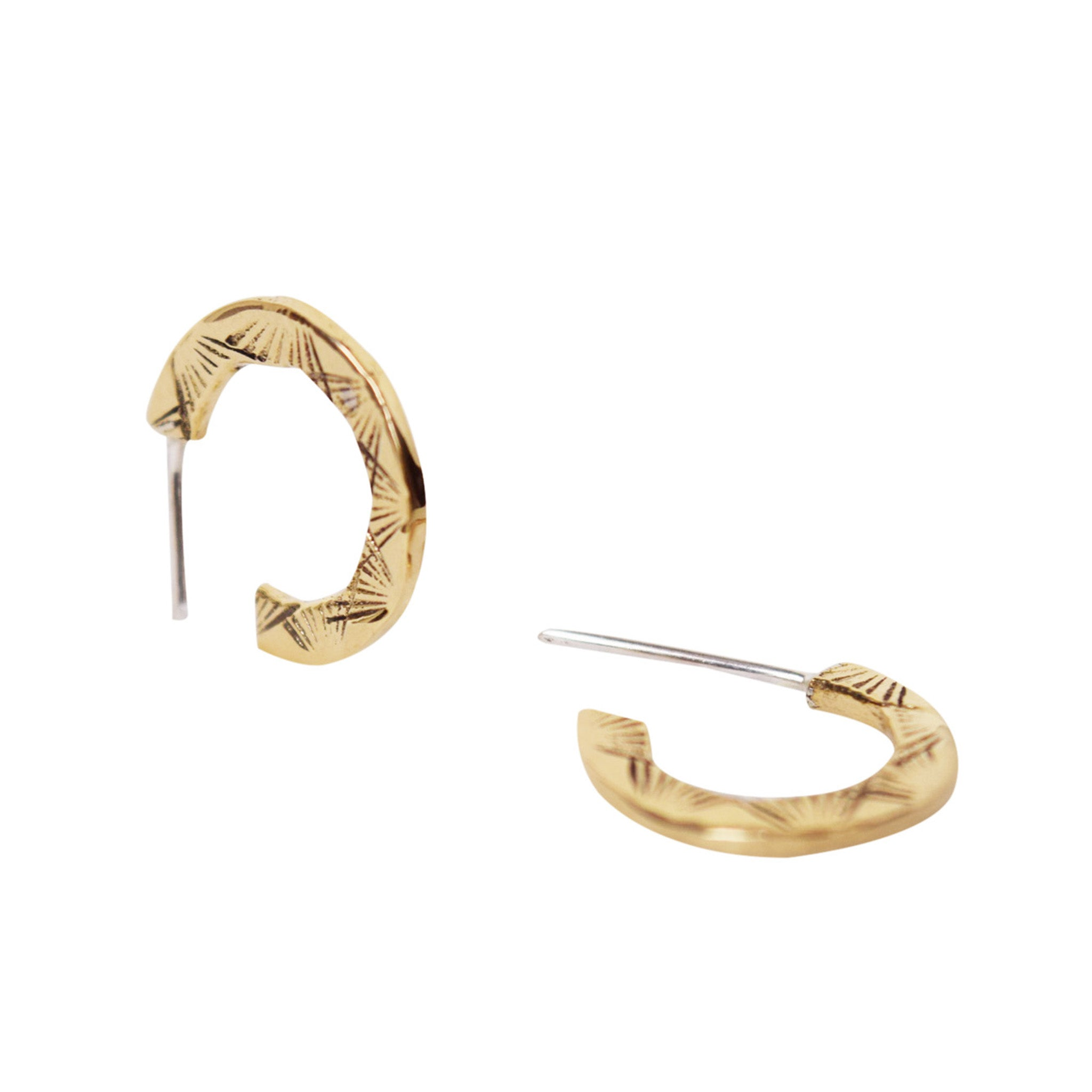 Naveen Two-sided mini Hoop Earrings - Lissa Bowie