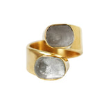 Wrap around Stone Adjustable Ring - Lissa Bowie