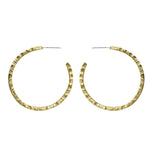 Naveen Double Sided Chiseled Hoop Earrings - Lissa Bowie