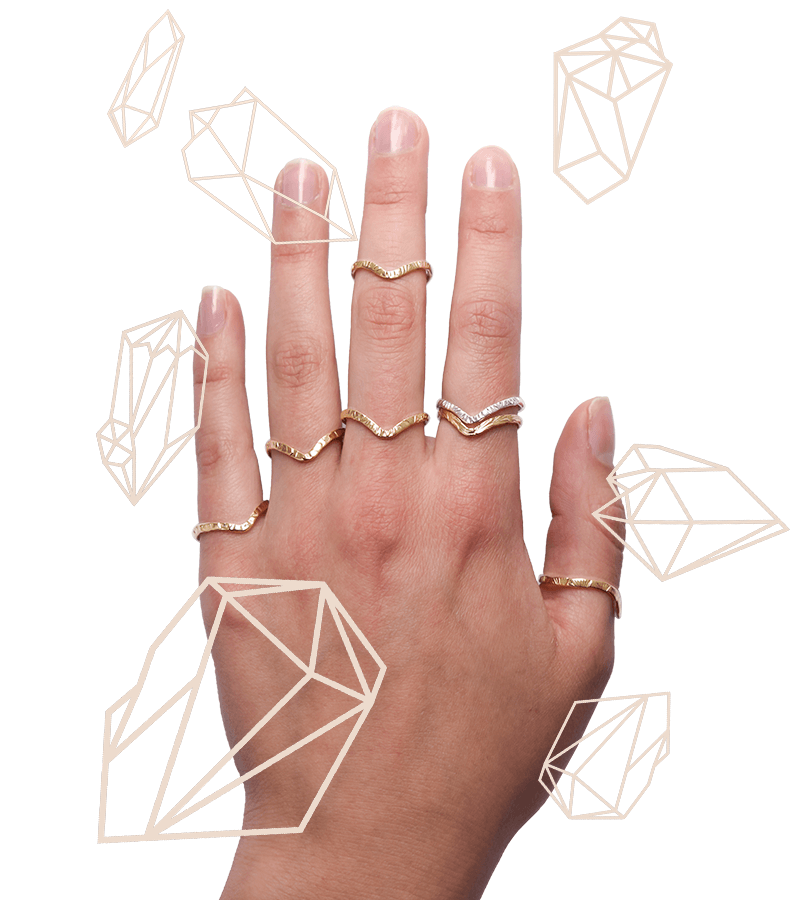 Naveen Chevron Stacking Ring - Lissa Bowie