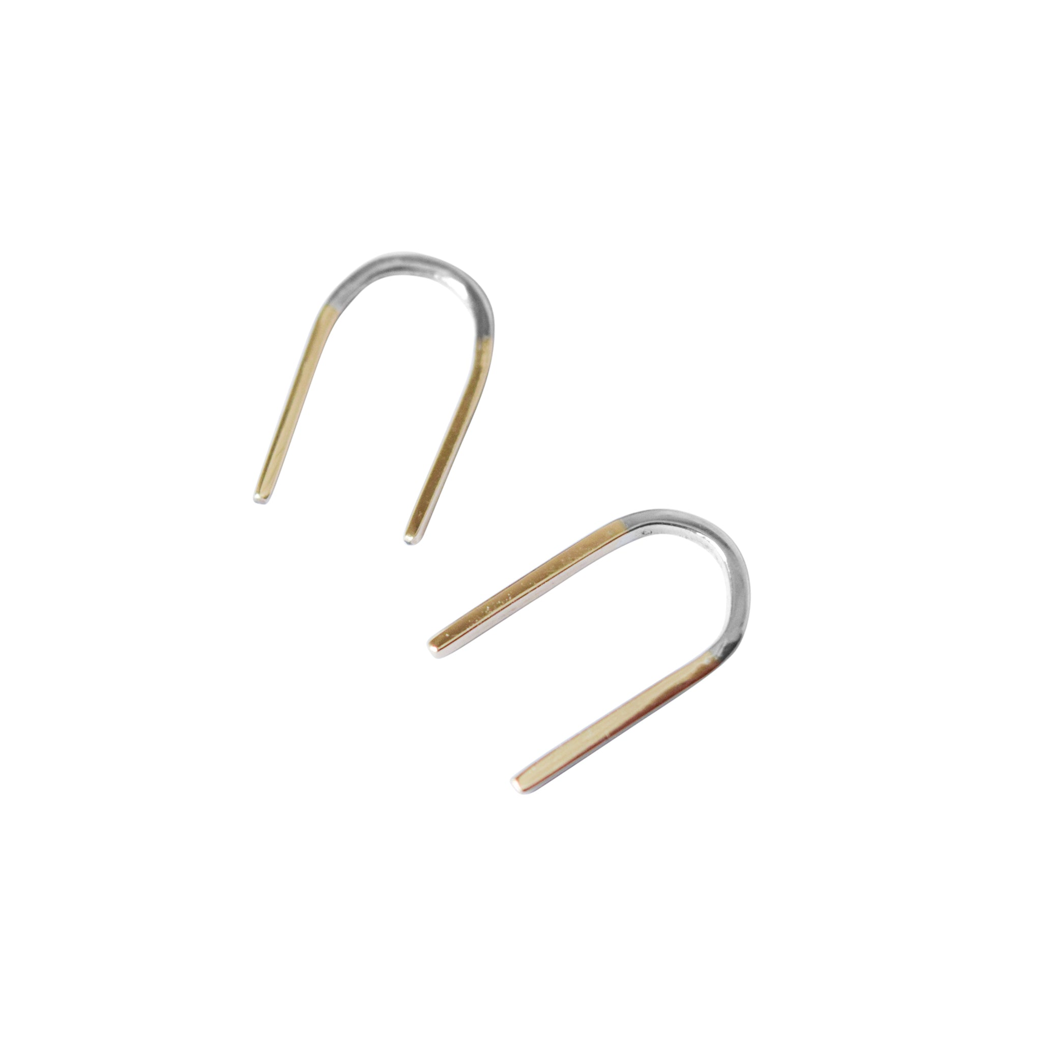 Iman Hook Mixed Metal Earrings