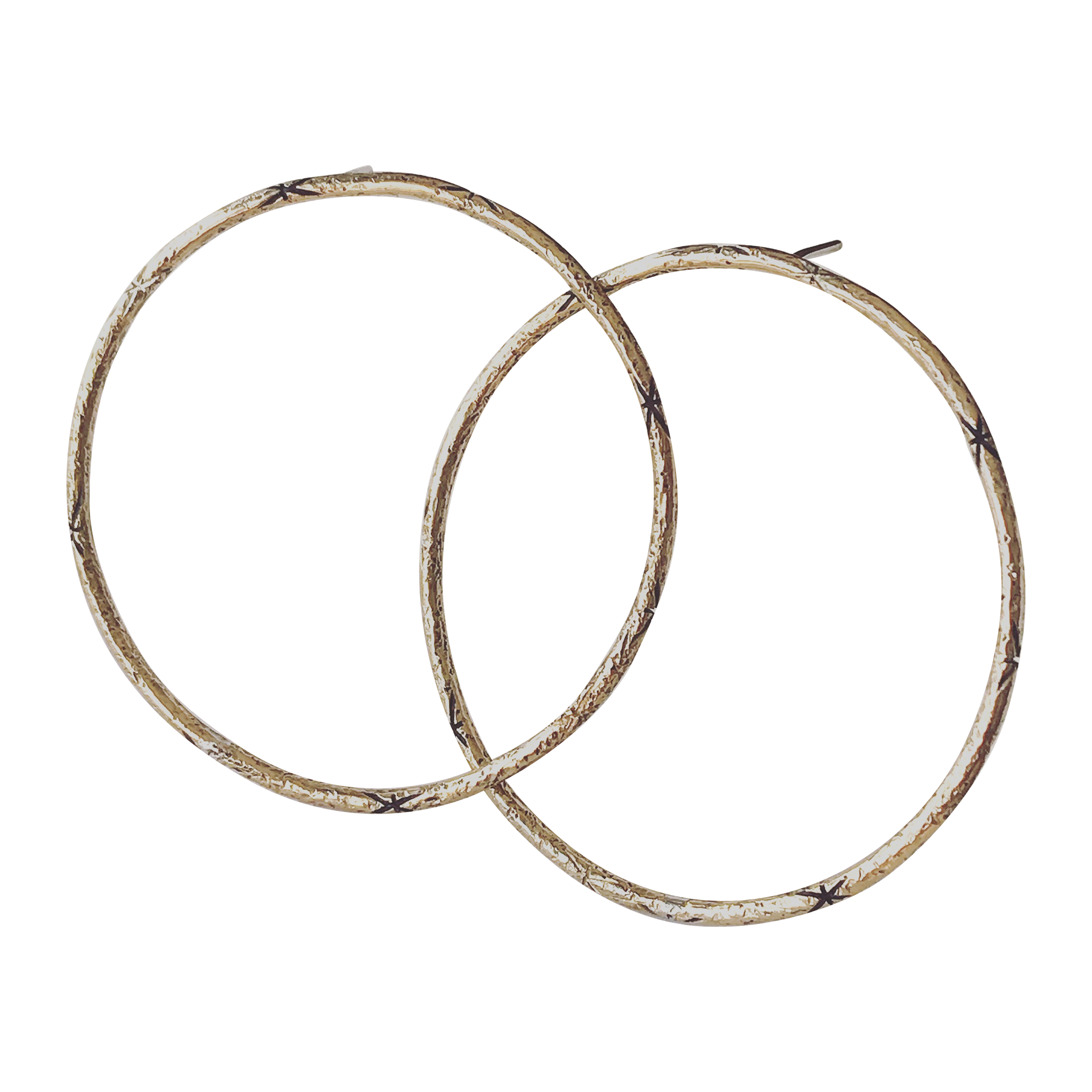 Starlit steady hoop earring