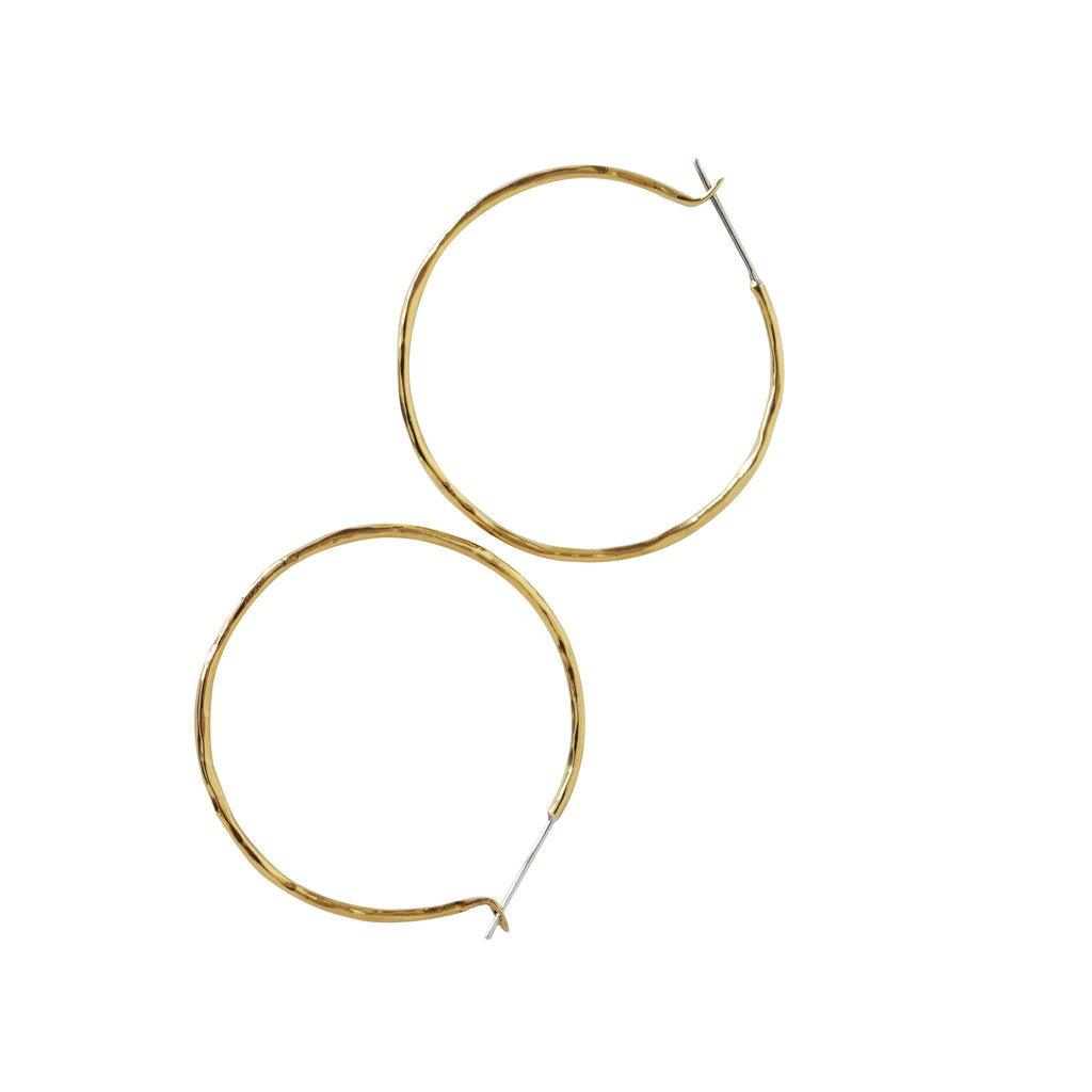 "Carladonna 1.5"" Round Hoop Earrings - Lissa Bowie"