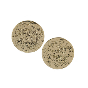 Paddy Moon Disc Stud Earrings - Lissa Bowie