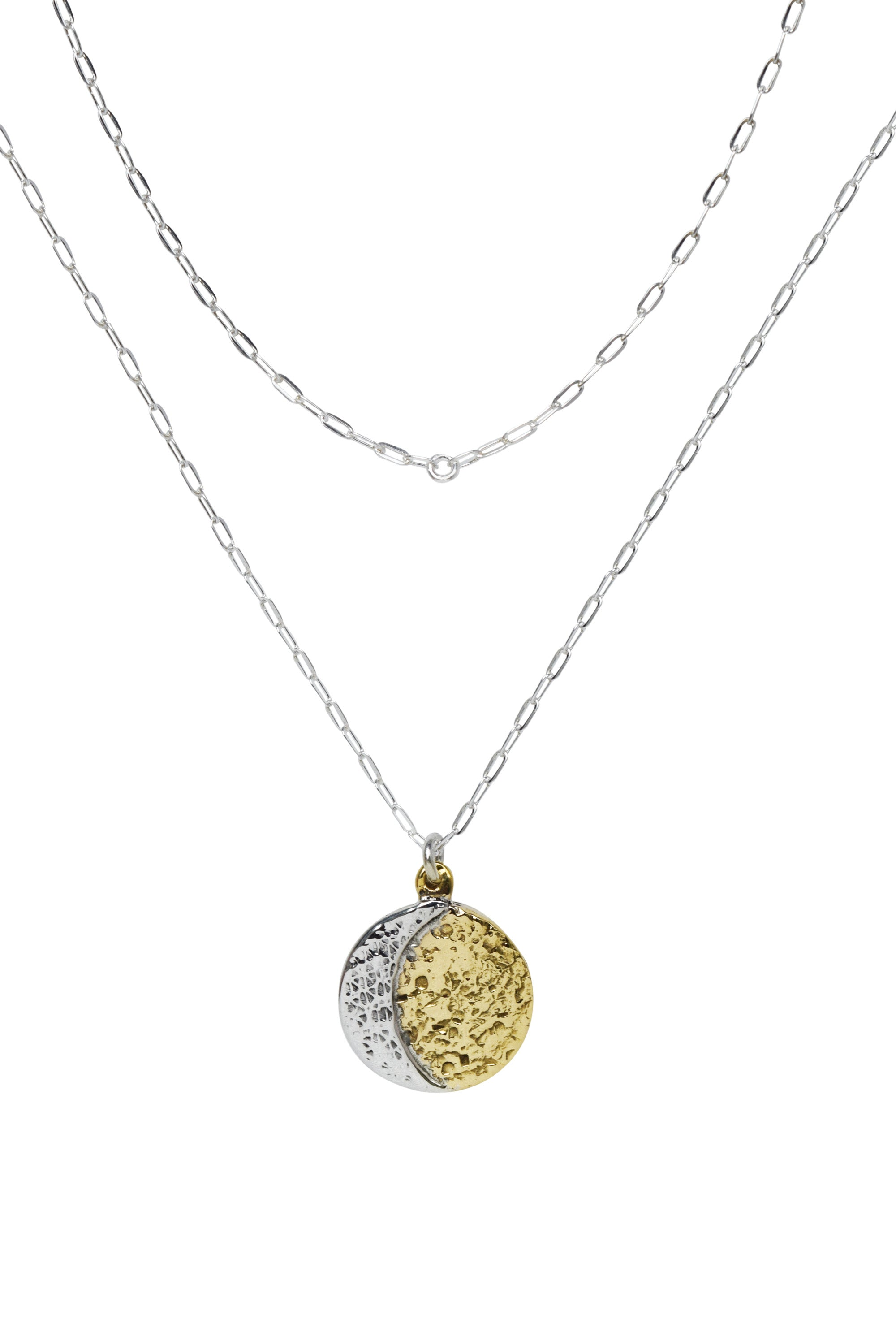 Mooncoin Reversible Mixed Metal Necklace - Lissa Bowie
