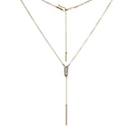 Ilumina Y Drop Bar Necklace - Lissa Bowie