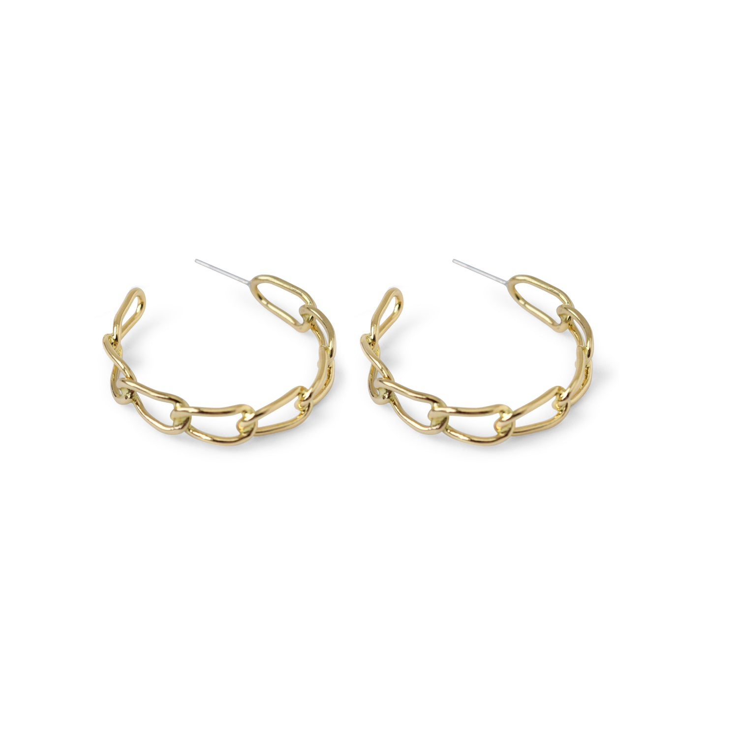 Succession Chainlink Hoop Earrings - Lissa Bowie