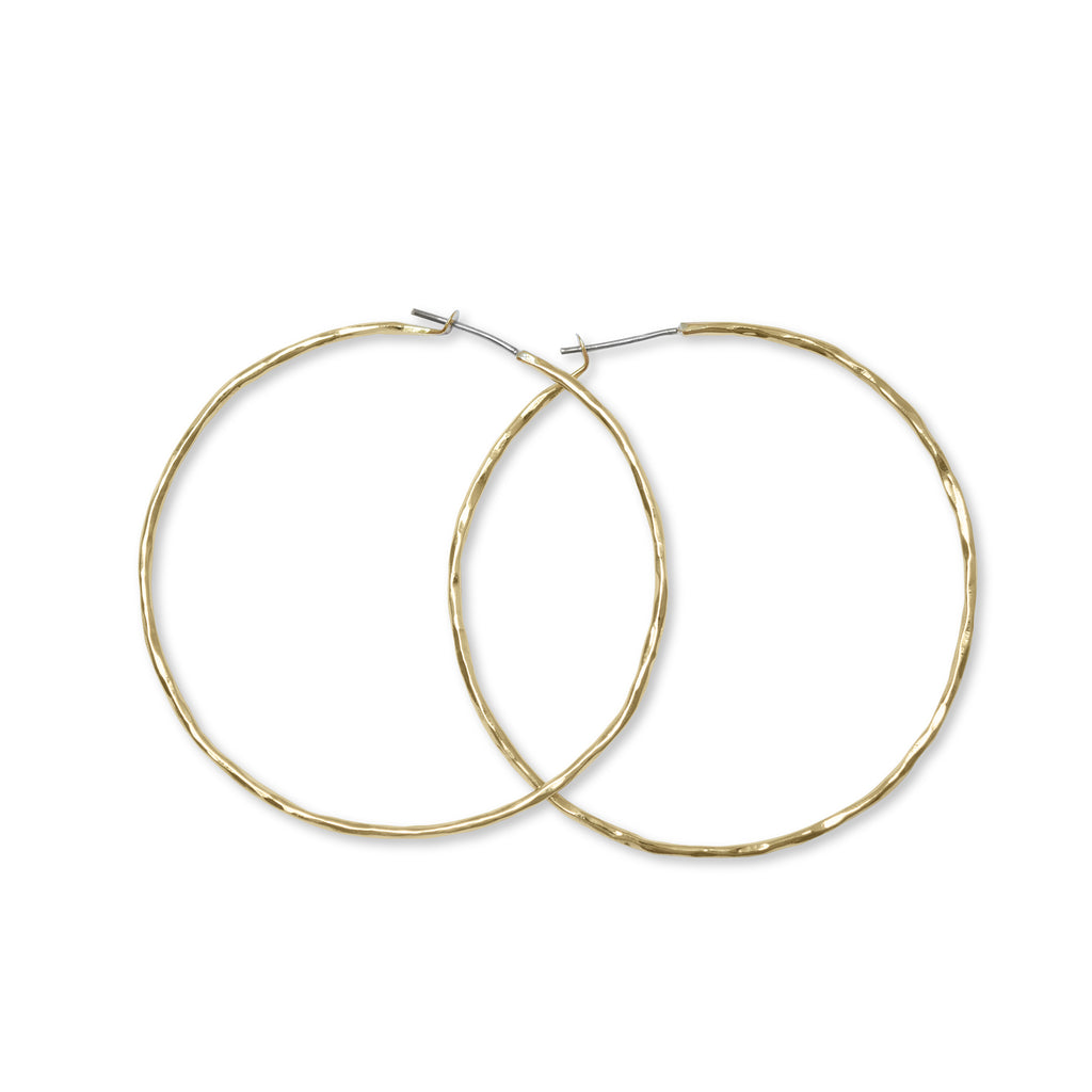 "Carladonna 2.5"" Round Hoop Earrings - Lissa Bowie"
