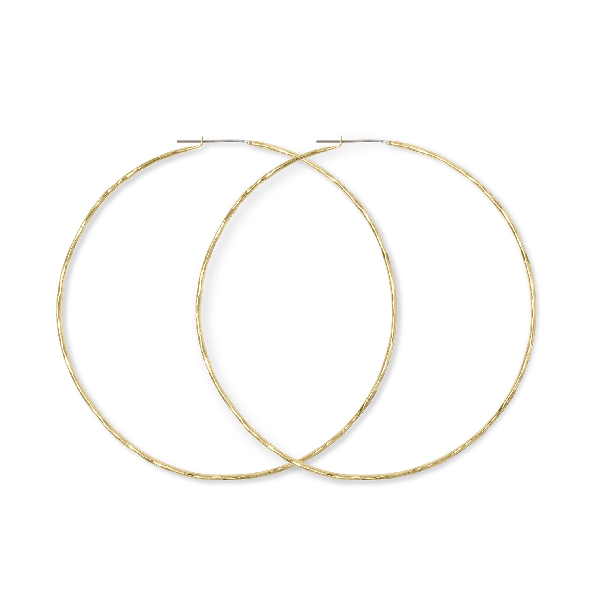 "Carladonna 4"" Round  Hoop Earrings - Lissa Bowie"