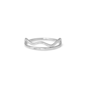 Cloud Edge Stacking Ring - Lissa Bowie