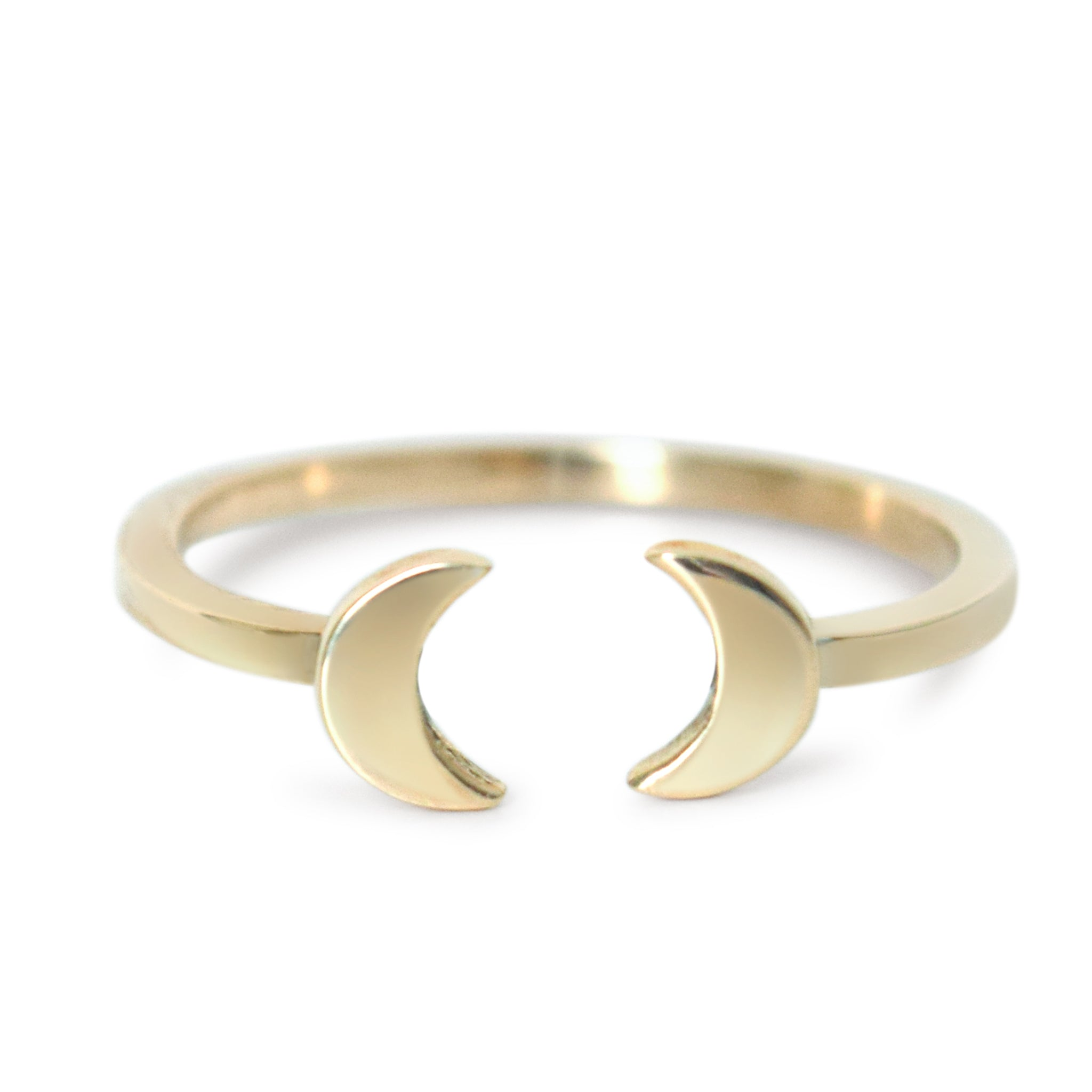 Mirrored Moon Adjustable Stacking Ring - Lissa Bowie