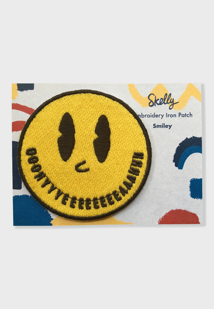 Smiley Embroidery Patches