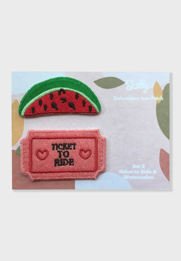 Ticket To Ride Watermelon Embroidery Patches