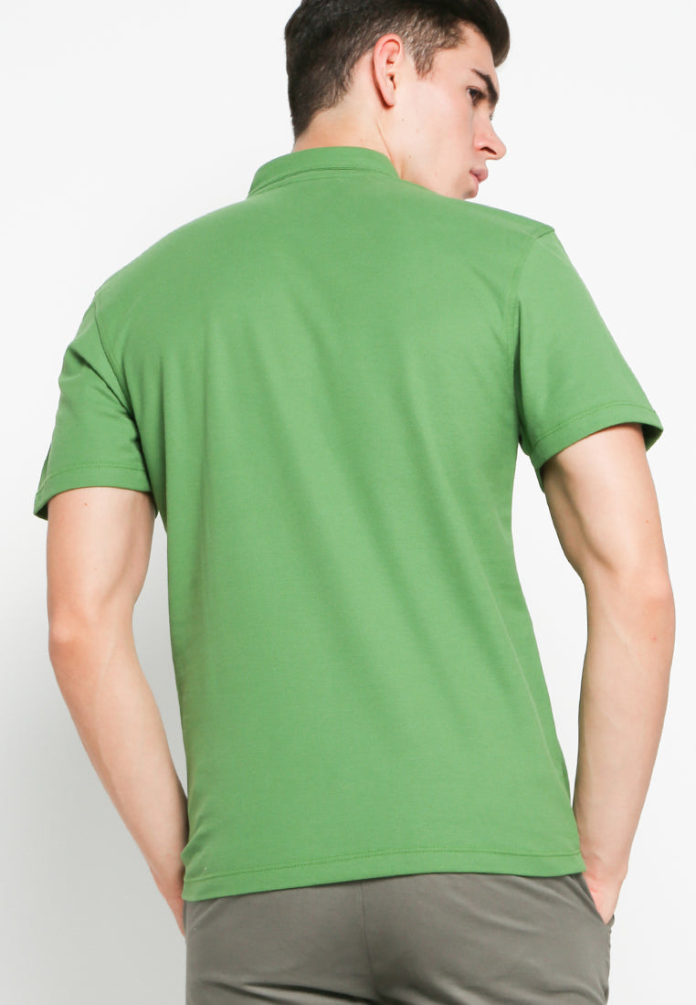 Button Down Polo in Ivy Green - Skelly Indonesia - The Original Graphic Tees, Comfortable Basic - www.skellyshop.co.uk