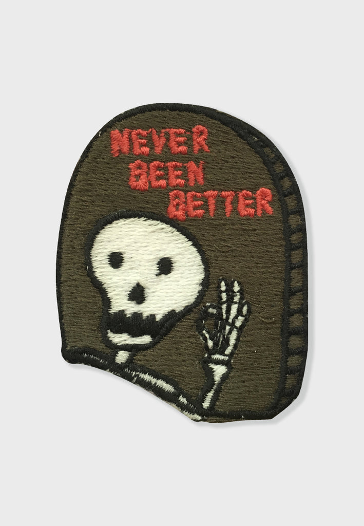 Happy Skeleton Embroidery Patches