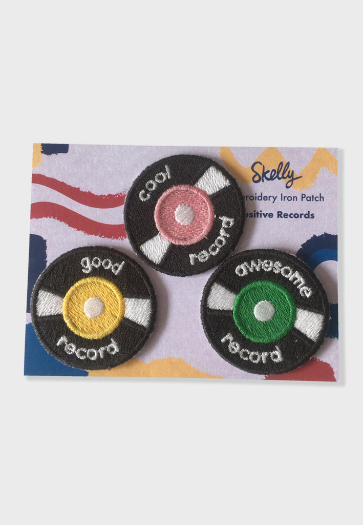 Positive Records  Embroidery Patches
