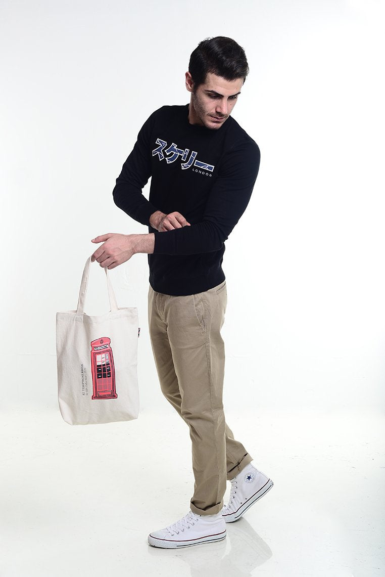 Phonebooth Tote Bag - Skelly Indonesia - The Original Graphic Tees, Comfortable Basic - www.skellyshop.co.uk