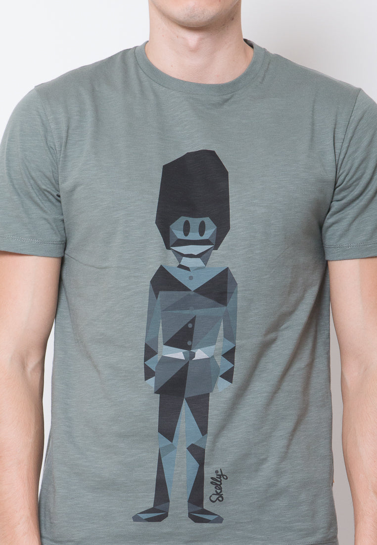 Royal Guard Mono Graphic T-shirts in Green - Skelly Indonesia - The Original Graphic Tees, Comfortable Basic - www.skellyshop.co.uk