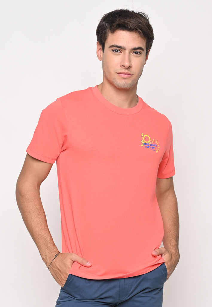 Comes The Sun Tee Coral