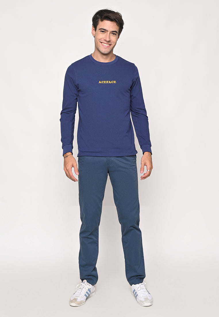 Ace Elbow Navy Long Sleeve Tee