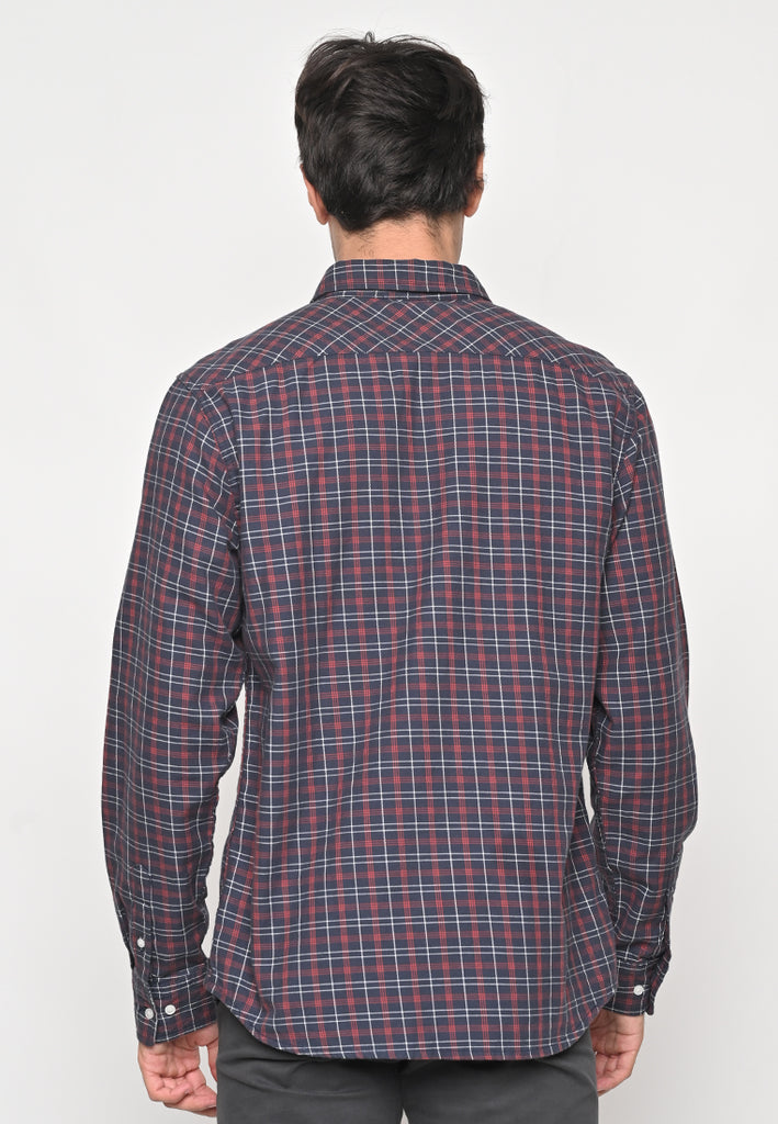 Lucas Flannel LS Night Plaid