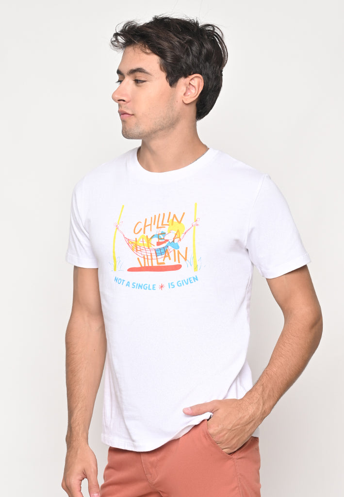 JJ Chilin Tee White