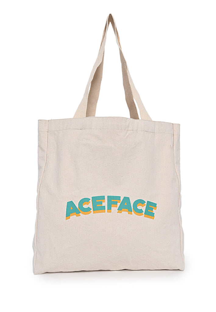 Ace Face Totebag 1920 White