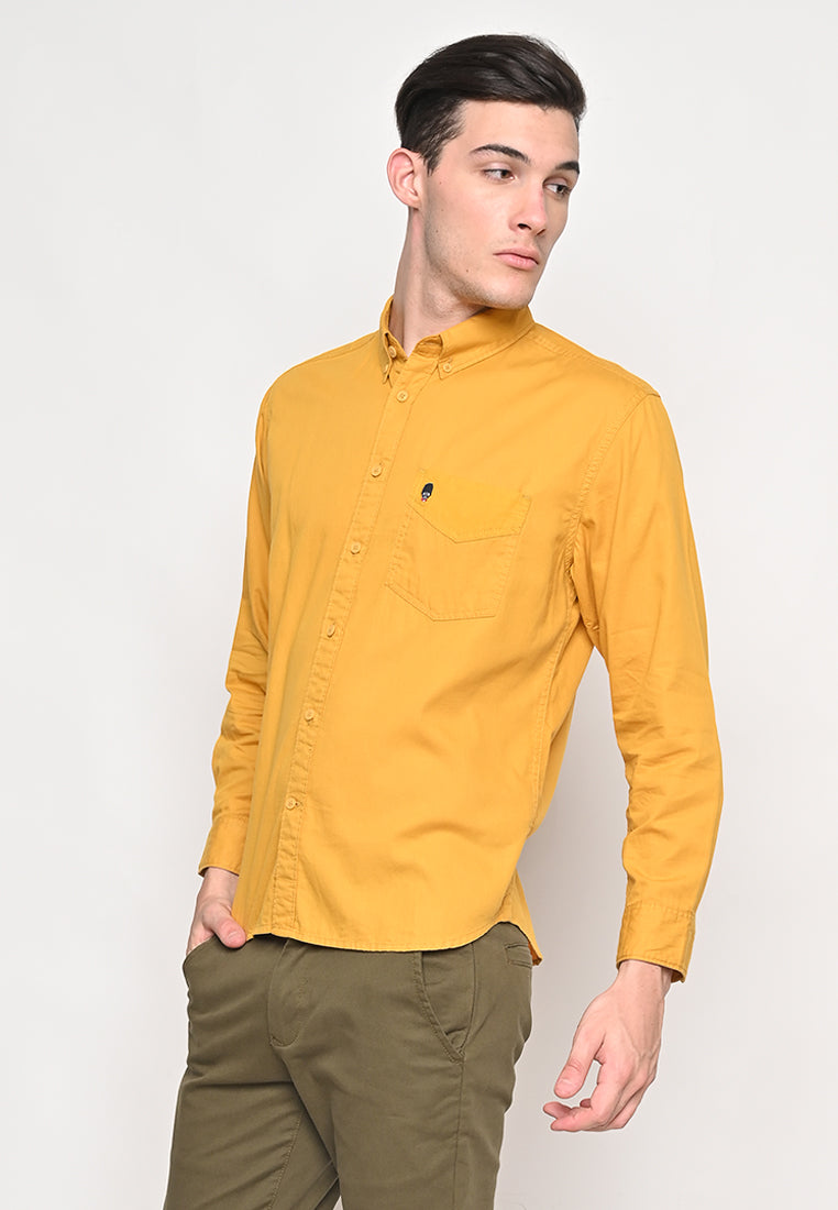 Thom Twill Shirts Long Sleeve Yellow Mustard