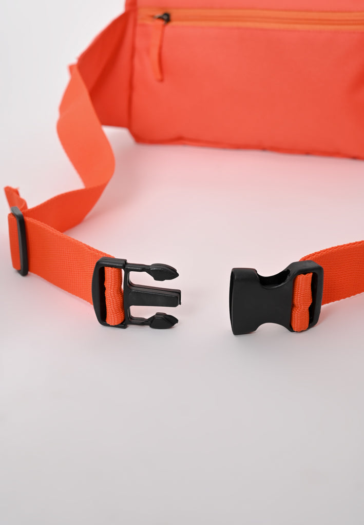 Nylon Body Bag In Orange