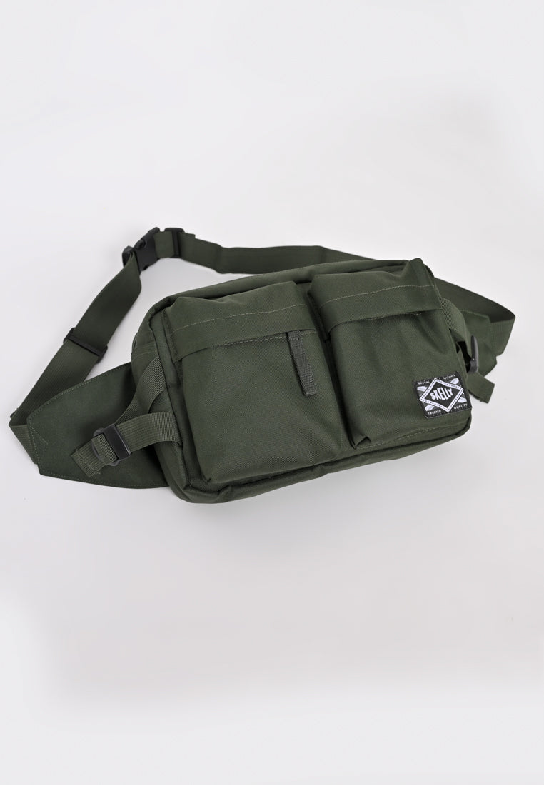 Nylon Body Bag In Olive
