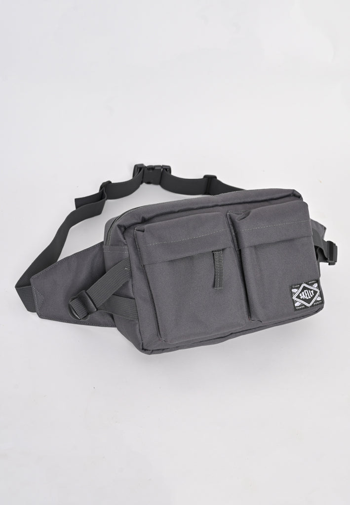 Nylon Body Bag In Grey