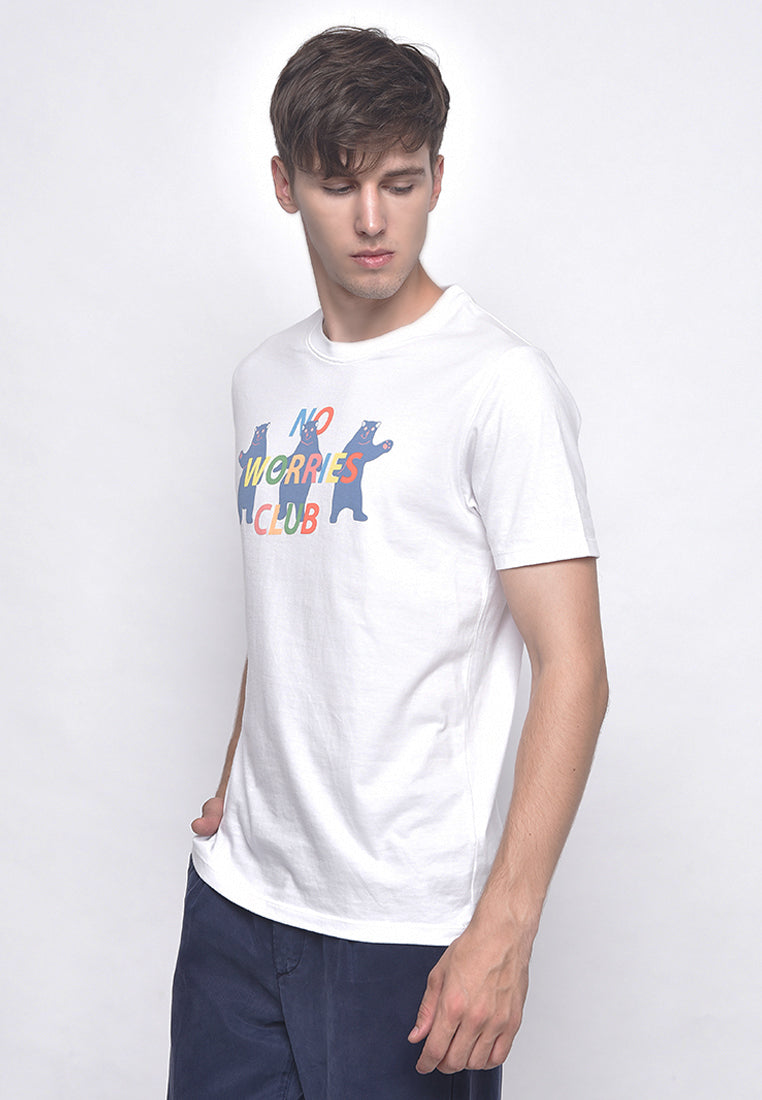 No Worries Club White T-Shirt