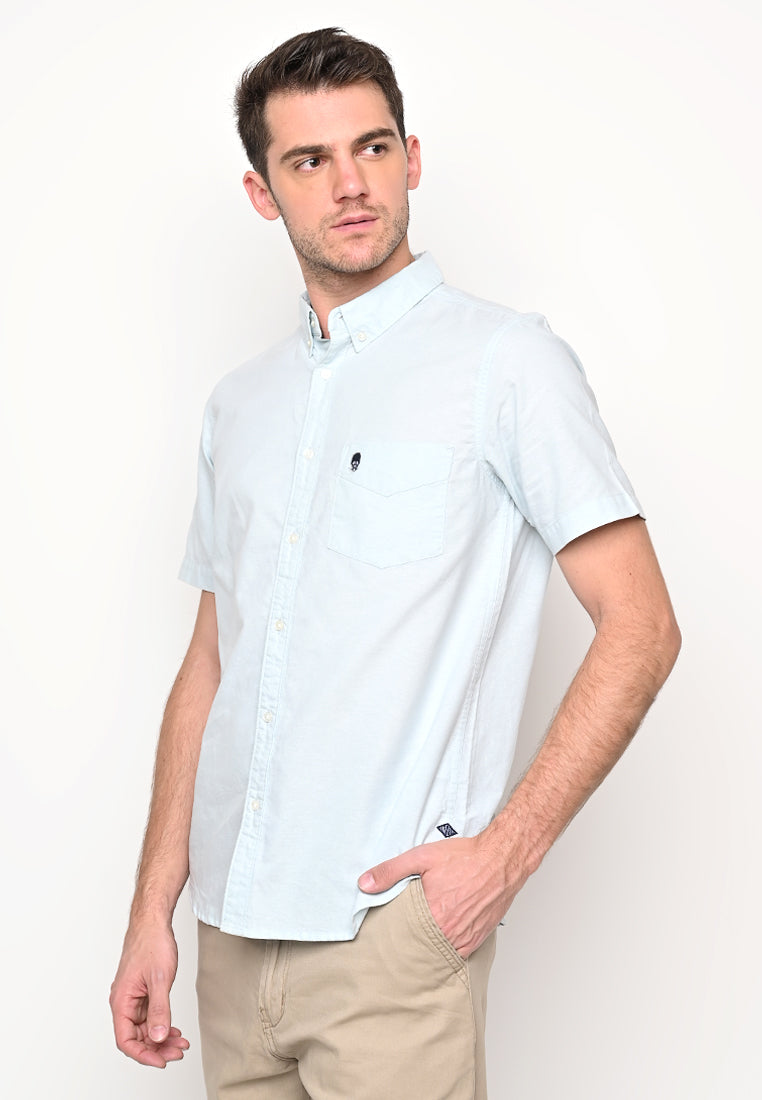 Guardian Hiro Oxford SS Shirt Light Blue