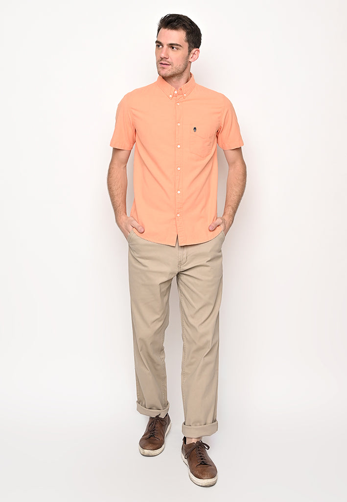 Guardian Hiro Oxford SS Shirt Coral