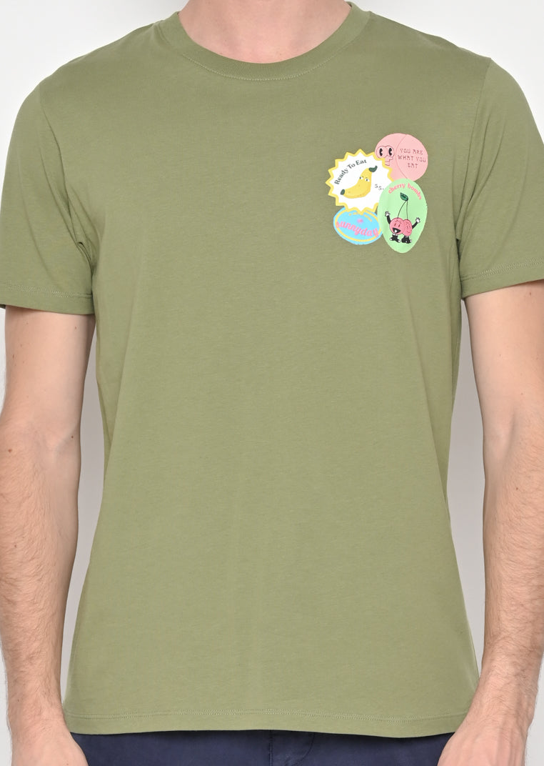 Fruit Stamps Olive Tee