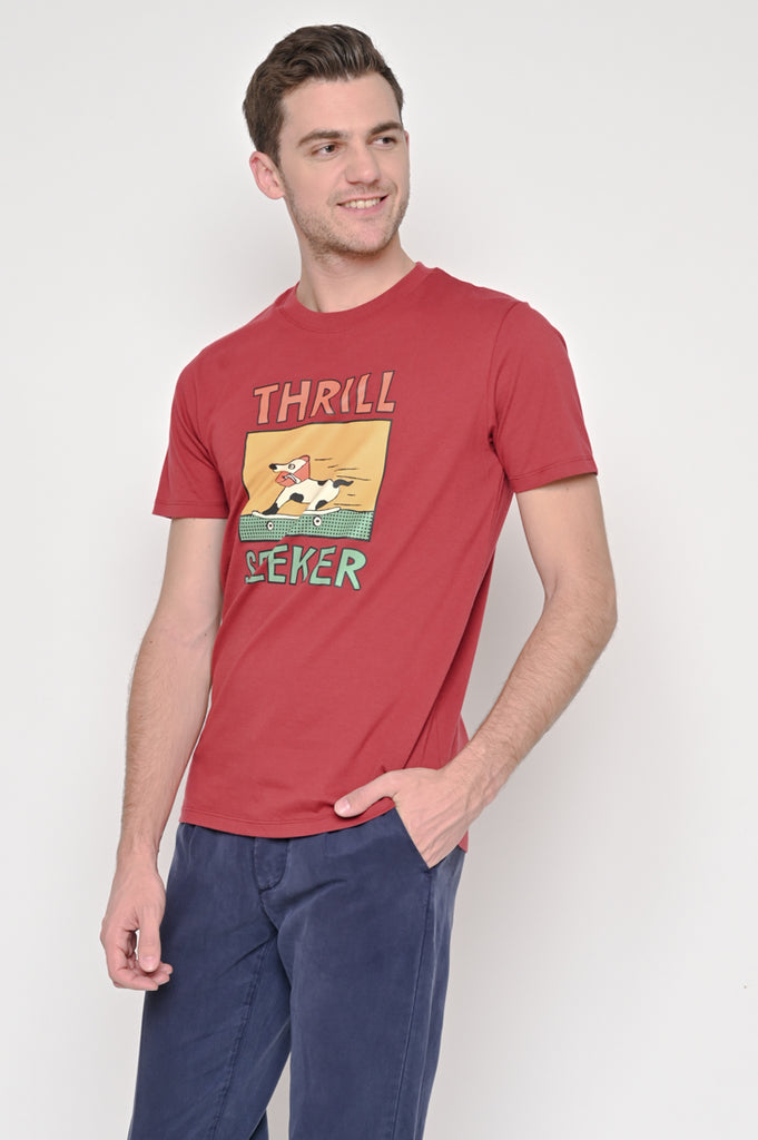 Thrill Seeker Tee Maroon