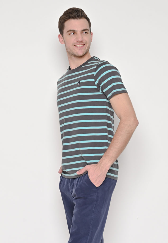 Evenlike Stripe Holiday Tee Blue